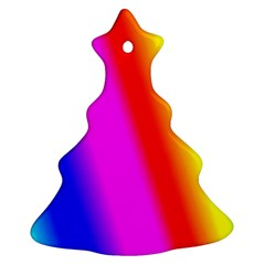 Multi Color Rainbow Background Christmas Tree Ornament (two Sides)
