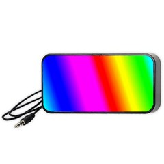 Multi Color Rainbow Background Portable Speaker (black)