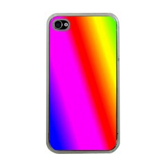 Multi Color Rainbow Background Apple Iphone 4 Case (clear)