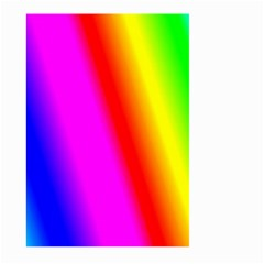 Multi Color Rainbow Background Large Garden Flag (two Sides)