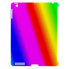 Multi Color Rainbow Background Apple Ipad 3/4 Hardshell Case (compatible With Smart Cover)
