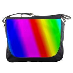 Multi Color Rainbow Background Messenger Bags