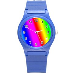 Multi Color Rainbow Background Round Plastic Sport Watch (s)