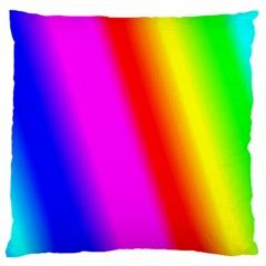 Multi Color Rainbow Background Large Cushion Case (two Sides)