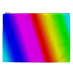 Multi Color Rainbow Background Cosmetic Bag (xxl)