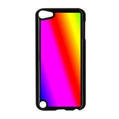 Multi Color Rainbow Background Apple Ipod Touch 5 Case (black)