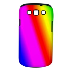 Multi Color Rainbow Background Samsung Galaxy S Iii Classic Hardshell Case (pc+silicone)