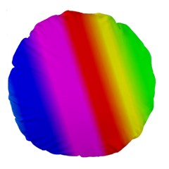 Multi Color Rainbow Background Large 18  Premium Round Cushions