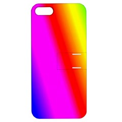 Multi Color Rainbow Background Apple Iphone 5 Hardshell Case With Stand