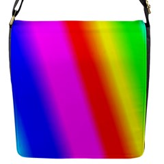Multi Color Rainbow Background Flap Messenger Bag (s)