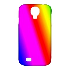 Multi Color Rainbow Background Samsung Galaxy S4 Classic Hardshell Case (pc+silicone)