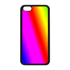 Multi Color Rainbow Background Apple Iphone 5c Seamless Case (black)