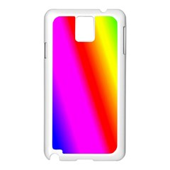 Multi Color Rainbow Background Samsung Galaxy Note 3 N9005 Case (white)