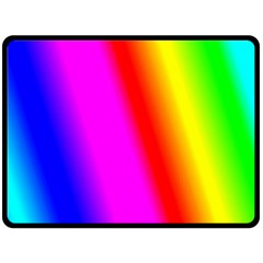 Multi Color Rainbow Background Double Sided Fleece Blanket (large)