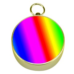 Multi Color Rainbow Background Gold Compasses