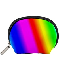 Multi Color Rainbow Background Accessory Pouches (small)