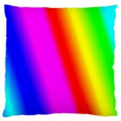 Multi Color Rainbow Background Large Flano Cushion Case (two Sides)