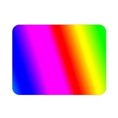 Multi Color Rainbow Background Double Sided Flano Blanket (mini)