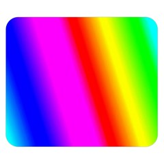 Multi Color Rainbow Background Double Sided Flano Blanket (small)