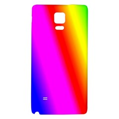 Multi Color Rainbow Background Galaxy Note 4 Back Case