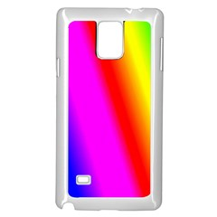 Multi Color Rainbow Background Samsung Galaxy Note 4 Case (white)