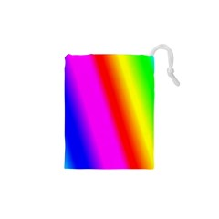 Multi Color Rainbow Background Drawstring Pouches (XS)