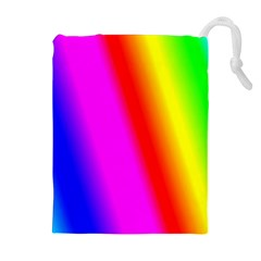 Multi Color Rainbow Background Drawstring Pouches (extra Large)