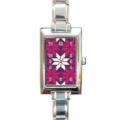 Pattern Background Texture Aztec Rectangle Italian Charm Watch