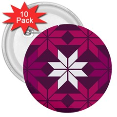 Pattern Background Texture Aztec 3  Buttons (10 pack)