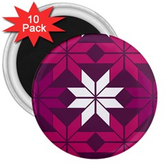 Pattern Background Texture Aztec 3  Magnets (10 pack)