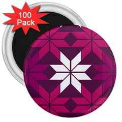 Pattern Background Texture Aztec 3  Magnets (100 Pack)