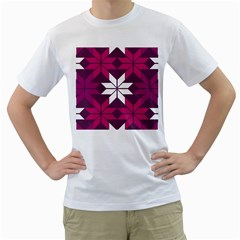Pattern Background Texture Aztec Men s T-Shirt (White) (Two Sided)