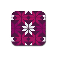 Pattern Background Texture Aztec Rubber Coaster (square)