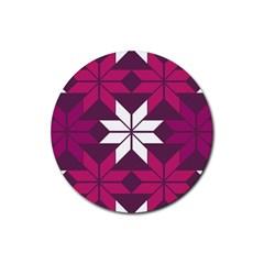 Pattern Background Texture Aztec Rubber Round Coaster (4 Pack)