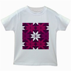 Pattern Background Texture Aztec Kids White T Shirts
