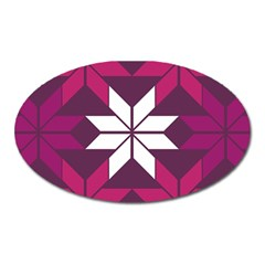 Pattern Background Texture Aztec Oval Magnet