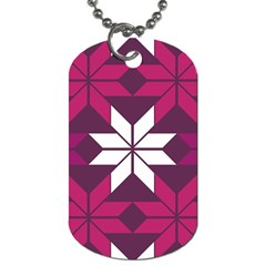 Pattern Background Texture Aztec Dog Tag (One Side)