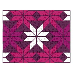Pattern Background Texture Aztec Rectangular Jigsaw Puzzl
