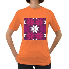 Pattern Background Texture Aztec Women s Dark T Shirt