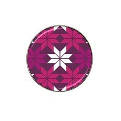 Pattern Background Texture Aztec Hat Clip Ball Marker (4 Pack)