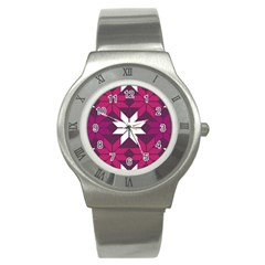 Pattern Background Texture Aztec Stainless Steel Watch