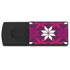 Pattern Background Texture Aztec Usb Flash Drive Rectangular (4 Gb)