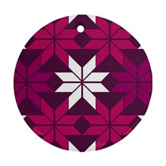 Pattern Background Texture Aztec Round Ornament (two Sides)