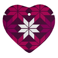 Pattern Background Texture Aztec Heart Ornament (two Sides)