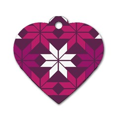 Pattern Background Texture Aztec Dog Tag Heart (two Sides)
