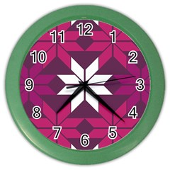 Pattern Background Texture Aztec Color Wall Clocks