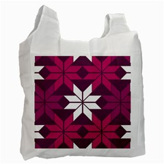 Pattern Background Texture Aztec Recycle Bag (two Side)