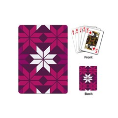 Pattern Background Texture Aztec Playing Cards (mini)