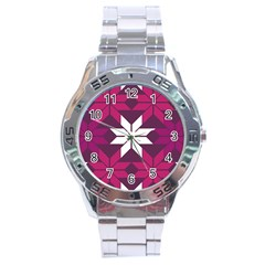 Pattern Background Texture Aztec Stainless Steel Analogue Watch