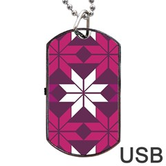 Pattern Background Texture Aztec Dog Tag Usb Flash (two Sides)